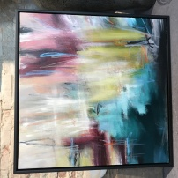Abstrakte vibrationer / 80x80 cm
